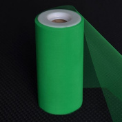 Premium Tulle on Spool (15cm Wide x 25 Yards Long) - Green
