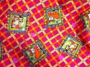 150cm Cotton Novelty Dog Plaid Print Per Yard