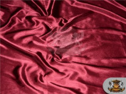 Satin Charmeuse Solid Fabric BURGUNDY / 150cm Wide / Sold by the yard