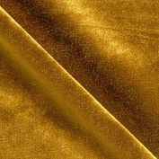 Stretch Velvet Dark Gold Fabric