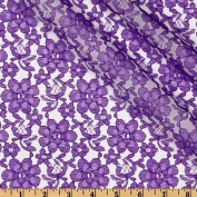 Floral Lace Purple Fabric