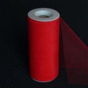 Premium Tulle on Spool (15cm Wide x 25 Yards Long) - Red