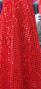 SMALL DOT CONFETTI SEQUIN FABRIC 110cm WIDE SOLD BY THE YARD RED