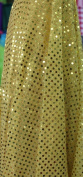 SMALL DOT CONFETTI SEQUIN FABRIC 110cm WIDE SOLD BY THE YARD YELLOW