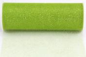 Kel-Toy Glitter Tulle Fabric, 15cm by 10-Yard, Apple Green