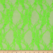 Stretch Neon Lace Lime Fabric