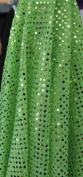 SMALL DOT CONFETTI SEQUIN FABRIC 110cm WIDE SOLD BY THE YARD LIME