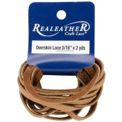 Deerskin Lace 0.5cm Wide 2 Yards-Saddle Tan