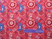 110cm Wide Care Bears Medallion Cotton Fabric BY THE HALF YARD