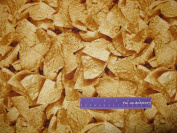 110cm Wide FARMERS MARKET Tortilla Chips Cotton Fabric BY THE HALF YARD