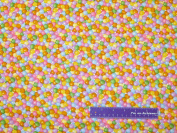 110cm Wide RJR Pastel Gum Balls Cotton Fabric BY THE HALF YARD