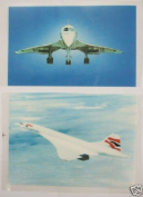 Sale 2 Concorde Plane Aircraft Transfer Iron-On Fabric Transfer