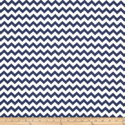 Chevron Navy Fabric