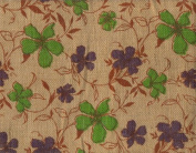 110cm Wide Burlap Fabric (Wild Flowers) - $9.95 By The Yard