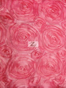 ROSETTE STYLE TAFFETA FABRIC - PINK - 150cm WIDTH - ONLY $13.99/YARD SOLD BTY