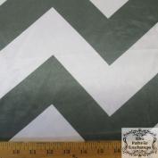 Grey Chevron Satin Charmeuse 150cm Wide Fabric By The Yard