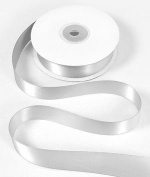 2.2cm White Double Face Satin Ribbon - 25 Yards