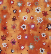 Jubilant Stars Jewish Fabric - Copper