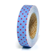 Fabric Tape Blue Dot Red