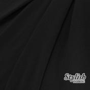 BLACK ITY Jersey Knit Fabric Heavy Weight Interlock Twist Yarns ITY By the Yard