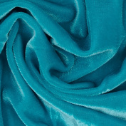 Stretch Velvet Turquoise Fabric