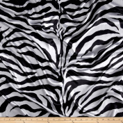Satin Charmeuse Zebra White/Black Fabric