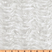 Mackenzie Satin Ribbon Scallop White Fabric