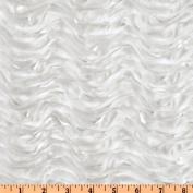 Mackenzie Satin Ribbon Scallop White Fabric