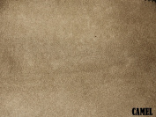 """150cm MICRO SUEDE FABRIC """"CAMEL"""" FOR UPHOLSTERY (PASSION SUEDE) BTY"""