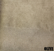 """150cm MICRO SUEDE FABRIC """"OLIVE"""" FOR UPHOLSTERY (PASSION SUEDE) BTY"""