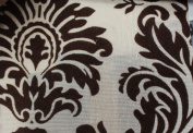 DAMASK FLOCKED TAFFETA FABRIC 150cm /150cm WIDE BY THE YARD BEIGE/BROWN