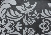 DAMASK FLOCKED TAFFETA FABRIC 150cm /150cm WIDE BY THE YARD BLACK/WHITE