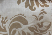 DAMASK FLOCKED TAFFETA FABRIC 150cm /150cm WIDE BY THE YARD GOLD/GOLD