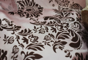 DAMASK FLOCKED TAFFETA FABRIC 150cm /150cm WIDE BY THE YARD PINK/BURGUNDY