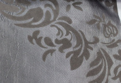 DAMASK FLOCKED TAFFETA FABRIC 150cm /150cm WIDE BY THE YARD SILVER/GREY