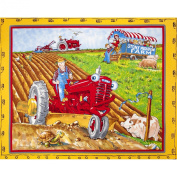 Tractor Mac Panel Yellow Fabric