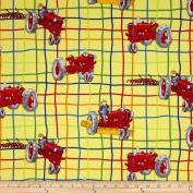 Tractor Mac Tractor Allover Plaid Lime Fabric