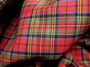 Red Blue Green Plaid Scotch Tartan Cotton Fabric 110cm W