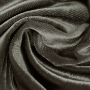 Stretch Velvet Charcoal Fabric