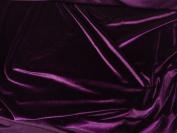 Stretch Velvet Dark Purple 150cm By the Yard