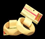 2 Pack, Wood Bangle Bracelet, Pentagon Shaped Exterior, 3.2cm Wide, Extra Large Size, ReadyToDecorate