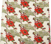 100% Pure Cotton Textile Fabric White Handmade Dress Pillow Curtain Floral Pattern The Yard