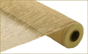 Deco Poly Mesh Roll Cream with Gold Metallic from DECO MESH DESIGN 50cm X 10 yards