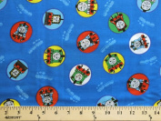 Thomas the Tank Engine & Friends Train Trains Kids Cotton Fabric Print By the Yard