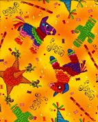 Piñata Pinata Mexican Fiesta Pinnatas Celebration Cotton Fabric Print