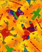 Piñata Pinata Mexican Fiesta Pinnatas Celebration Cotton Fabric Print