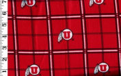 "University of Utah By Sykel - 100% Cotton Flannel, 15cm - 0"" Wide"