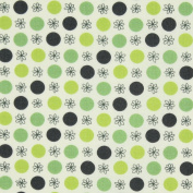 Free Spirit Flea Market Fancy Legacy Collection Flower and Dot Green, 43-inch (109cm) Wide Cotton Fabric Yardage