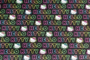 Hello Kitty 4 Print Cotton Fabric 110cm /110cm Width By The Yard