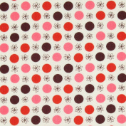 Free Spirit Flea Market Fancy Legacy Collection Flower and Dot Red, 43-inch (109cm) Wide Cotton Fabric Yardage